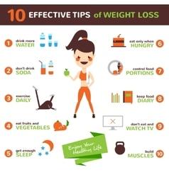 Diet Infographic Set vector image