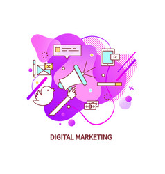 digital management broadcasting megaphone vector image