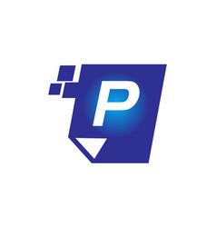 Digital paper initial p vector