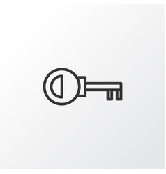 Door key icon symbol premium quality isolated vector