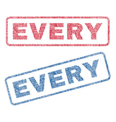 Every textile stamps vector