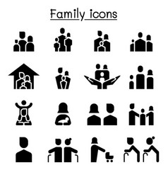 Family icon set graphic design vector