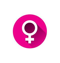 female sign icon isolated on white background vector image