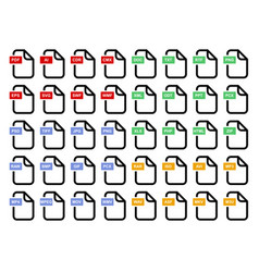 File simple icon set of different format vector