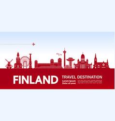 Finland travel destination vector