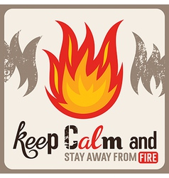 Fire safety sign vector