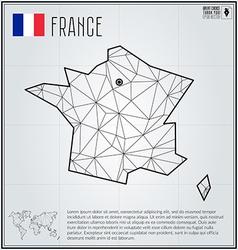 France map in geometric polygonal style Polygonal vector