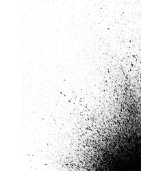 Graffiti spray paint detail in black on white vector