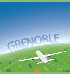 Grenoble flight destination vector