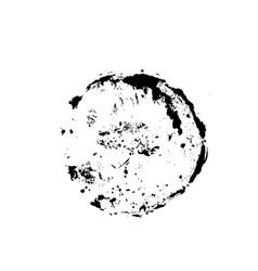 grunge ink brush round stamp modern black vector image