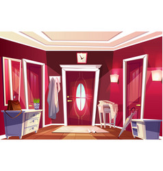 Hallway corridor room interior vector