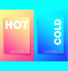 hot and cold soft gradient texture background for vector image