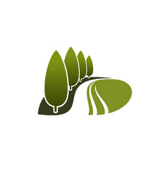 Icon of green trees garden or nature park vector