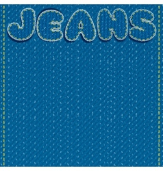 Jeans Background Ready for Text and Design vector image
