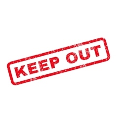 Keep Out Rubber Stamp vector image