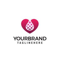 Lab heart logo design concept template vector