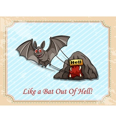 Like a bat out of hell vector image