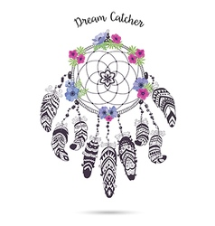 Native american indian talisman dreamcatcher with vector
