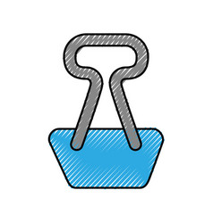 Paper clip isolated icon vector