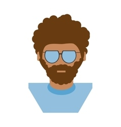 People hipster man icon image vector