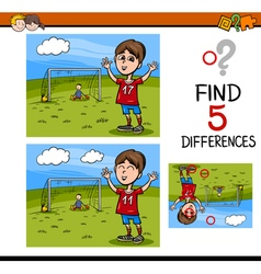 preschool differences activity task vector image