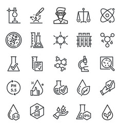 Quality tested icons dermatology artificial free vector