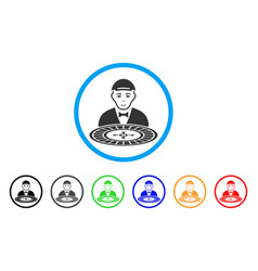 Roulette croupier rounded icon vector