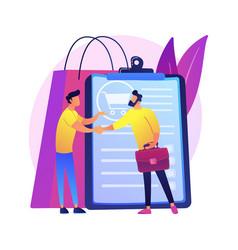 Sales representative abstract concept vector