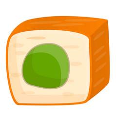 salmon sushi icon cartoon style vector image