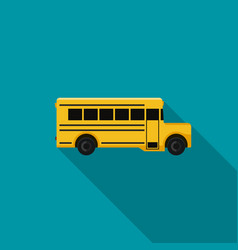 School bus flat icon vector