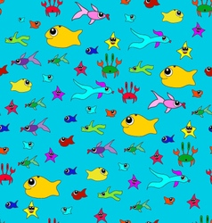 seamless pattern of sea-2 vector image
