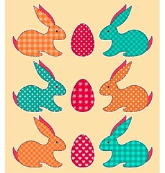 Set of application Easter rabbits vector image