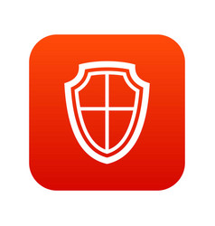 shield icon digital red vector image