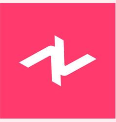 simple av vv anv vnv initials company logo vector image