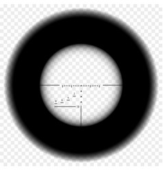 sniper rifle scope view vector image