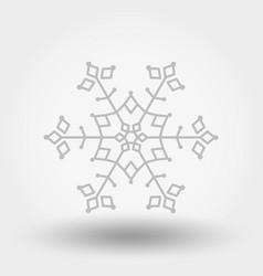 snowflake icon christmas and new year vector image