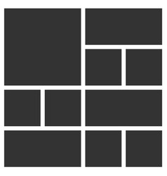 Template collage 10 frames photos vector