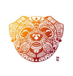 template design tribe head pug vector image