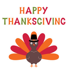 Thanksgiving turkey card vector