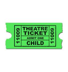 Theatre ticket child vector