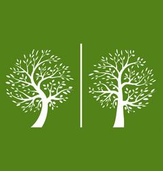 tree green logo set silhouette a icon vector image