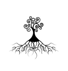 tree life tree natural logo ecology isolated vector image