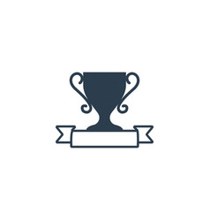 trophy award winner icon template vector image