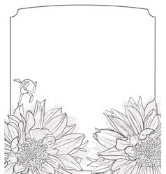 Vintage delicate invitation with flowers vector