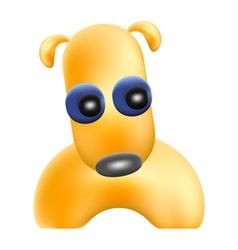 yellow dog vector image vector image