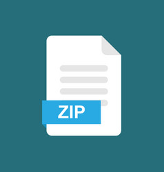 zip format file icon symbol vector image