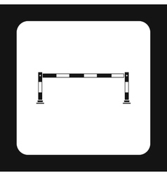 Car barrier icon simple style vector image vector image