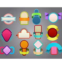Colorful badges vector image vector image