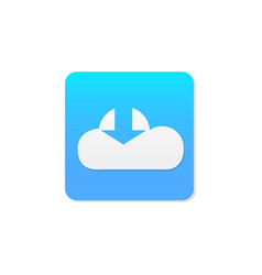 Flat cloud download icon vector
