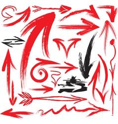 handwritten arrows vector image vector image